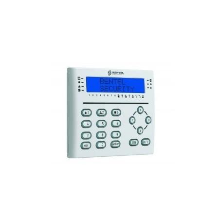 LCD keypad T-WHITE BENTEL with badge reader