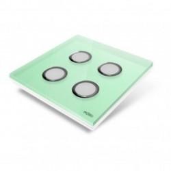 EDISIO - Plaque de recouvrement Diamond - Vert Clair 4 touches