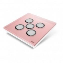 EDISIO - abdeckplatte Diamond - Rose 5 tasten