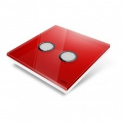EDISIO - cover Plate Diamond Red 2 keys