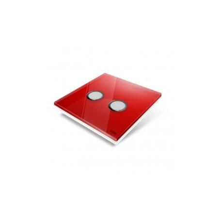 EDISIO - cover Plate Diamond Red 2 keys