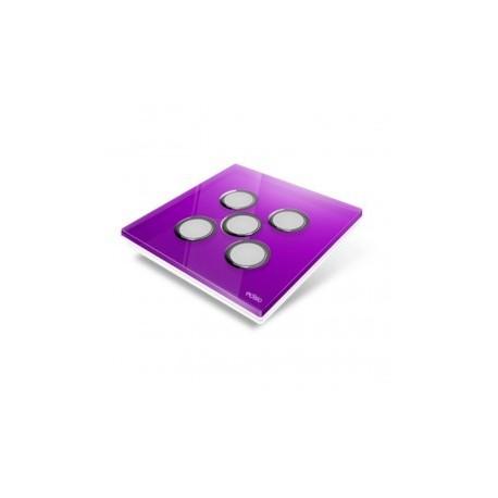EDISIO - Plaque de recouvrement Diamond - Mauve 5 touches
