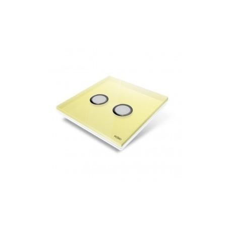 EDISIO - Plaque de recouvrement Diamond - Jaune 2 touches
