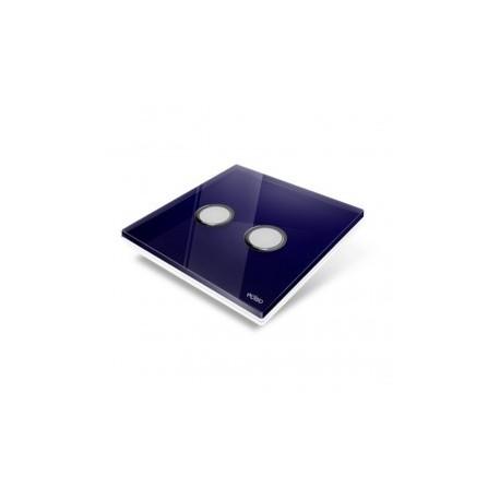 EDISIO - abdeckplatte-Diamond - Blau nacht-2 tasten