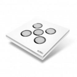 EDISIO - Interruptor de Elegancia Blanco 5 Teclas de Base Blanco