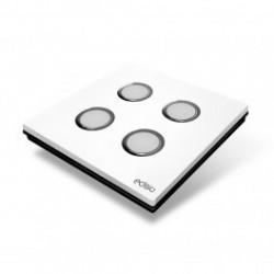 EDISIO - Interruttore di Eleganza Bianco 4 Tasti Base nera