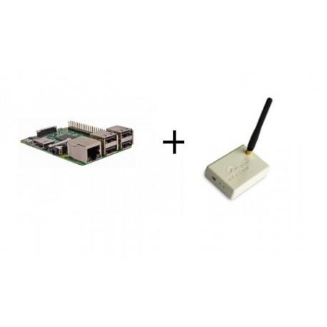 Frambuesa PI3 - Raspberry Pi 3 Modelo B (WiFi y Bluetooth) con el transmisor Rfxcom 433 Mhz