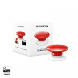 FIBARO FGPB-101-3 - Bouton de commande The Button Z-Wave Plus rouge