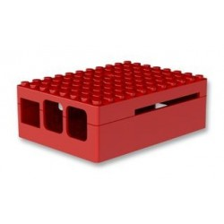 RASPBERRY PI3 - Case Pi Blox for Raspberry Pi Models B+, 2, and 3 Models B, ABS, Red
