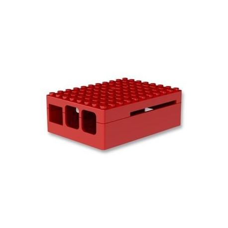 RASPBERRY PI3 - Boitier Pi Blox pour Raspberry Pi Modèles B+, 2 et 3 Modèles B, ABS, Rouge