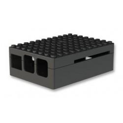 RASPBERRY PI3 - Gehäuse, Pi-Blox für Raspberry Pi Modelle B+, 2-und 3 B-Modelle, ABS, Schwarz