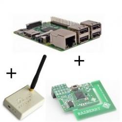 Frambuesa Pi3 tarjeta de Z-wave Plus y Rfxcom