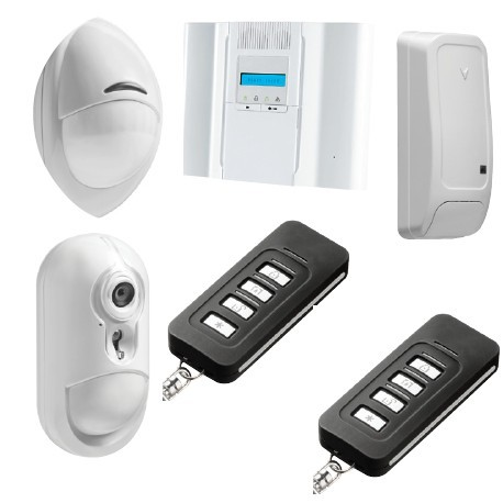 Allarme DSC Wireless Premium - Pack di allarme IP rivelatore fotocamera PowerG