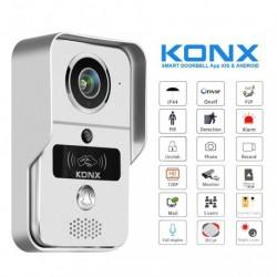 KONX KW02C+ - Portero de vídeo wi-fi o Ethernet / IP de un lector RFID con campana