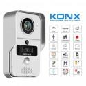 KONX KW02C+ - Doorman video WiFi or Ethernet / IP RFID reader with bell