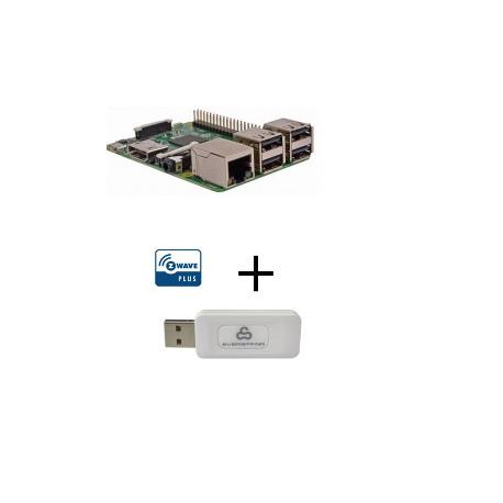 Raspberry PI 3 Modelo B - Raspberry Pi 3 Modelo B con controlador Z-wave Más Everspring SA413