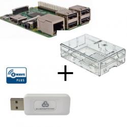 Raspberry PI 3 case trasparente con controller Z-Wave Più Everspring SA413