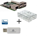 Raspberry PI 3 caso transparente con controlador Z-Wave Más Everspring SA413