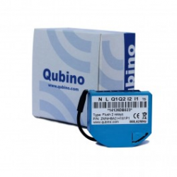 Qubino ZMNHBD1- Module commutateur 2 relais Z-Wave Plus