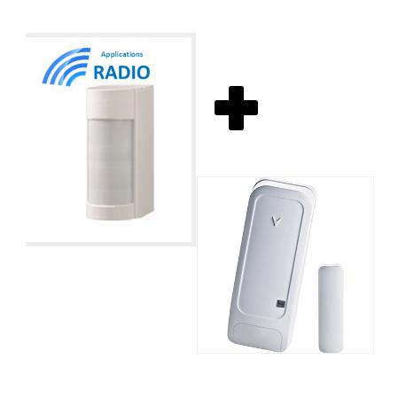 Visonic VXIRDAM - Rilevatore di accessori esterni optex doppio IRP 12M a 90° basso conso IP55 ANTI-MASK