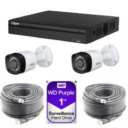 Kit vidéosurveillance Dahua AHD1080P 2 caméras