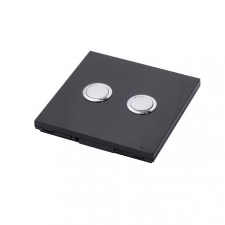 DIO - Interruptor de 868 Mhz, 2 canales de negro