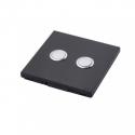 DIO - Interrupteur 868 Mhz 2 canaux noir