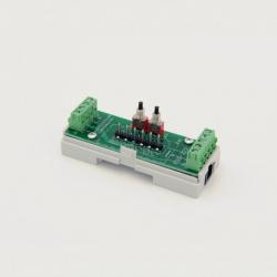 EUTONOMY S223 - Adaptateur euFIX DIN pour Fibaro FGS-223 avec boutons