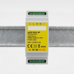 EUTONOMY S222NP - Adaptateur euFIX DIN pour Fibaro FGS-222 sans boutons