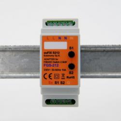 EUTONOMY S212 - Adattatore euFIX modulo DIN Fibaro FGS-212 con pulsanti