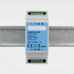 EUTONOMY - Adaptador de euFIX en CARRIL DIN módulo de Fibaro FGD-212 sin botones