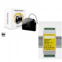Fibaro FGS-223 - Fibaro módulo de doble interruptor Z-Wave y Más con soporte para carril DIN