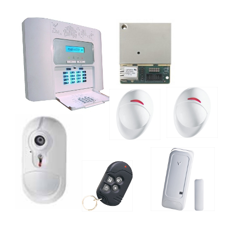 Visonic Alarma NFA2P - Pack de alarma PowerMaster 30 IP detector de la cámara