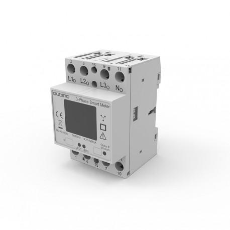 Qubino ZMNHXD1 - Medidor de energía trifásico de Z-Wave Más