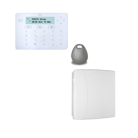 Risco LightSYS - Centrale alarme filaire connectée avec clavier Keypad lecteur de badge