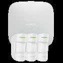 Alarme Ajax Hub Kit Pro blanc - Pack alarme IP / GPRS