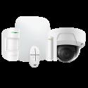 Alarme Ajax HUBKIT-W-DOM - Pack alarme IP / GPRS avec caméra dôme