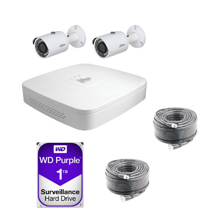 Kit de video vigilancia Dahua AHD 720P 2 cámaras