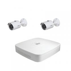 Dahua Kit videosorveglianza 2 telecamere 4 Megapixel