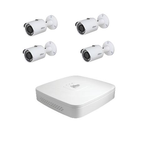 Dahua-Kit cctv - 4 kameras (HD-CVI 4-Megapixel-kamera