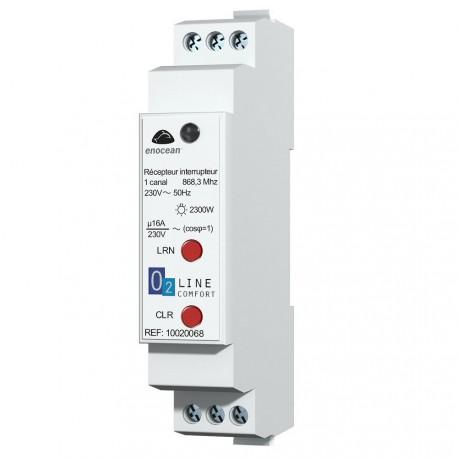 Trio2sys - Récepteur interrupteur rail Din EnOcean 16A