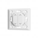 Trio2sys - Interrupteur mural volet roulant EnOcean 2 boutons compatible Celiane