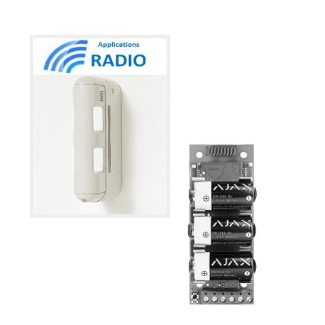 Ajax-Einbeinstativ BX-80NR - Melder-alarm-dual-IR-outdoor-radio 12X12M anti-tieren