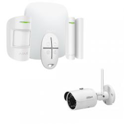 Alarm Ajax Starter Kit-HUB-Plus - Alarm-drahtlose IP-kamera, 4 Megapixel