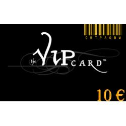 Tarjeta de regalo VIP, con un valor de 10€