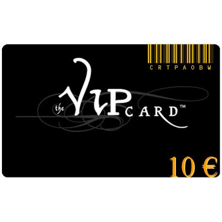 Gift card VIP with a value of 10€