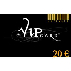 Regalo tarjeta VIP con un valor de 20€