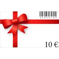 Carte cadeau anniversaire d'une valeur de 10€