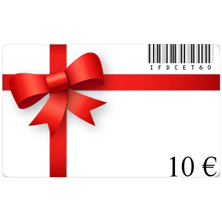 Card birthday gift of a value of€10
