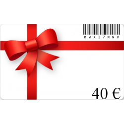 Card birthday gift of a value of€40